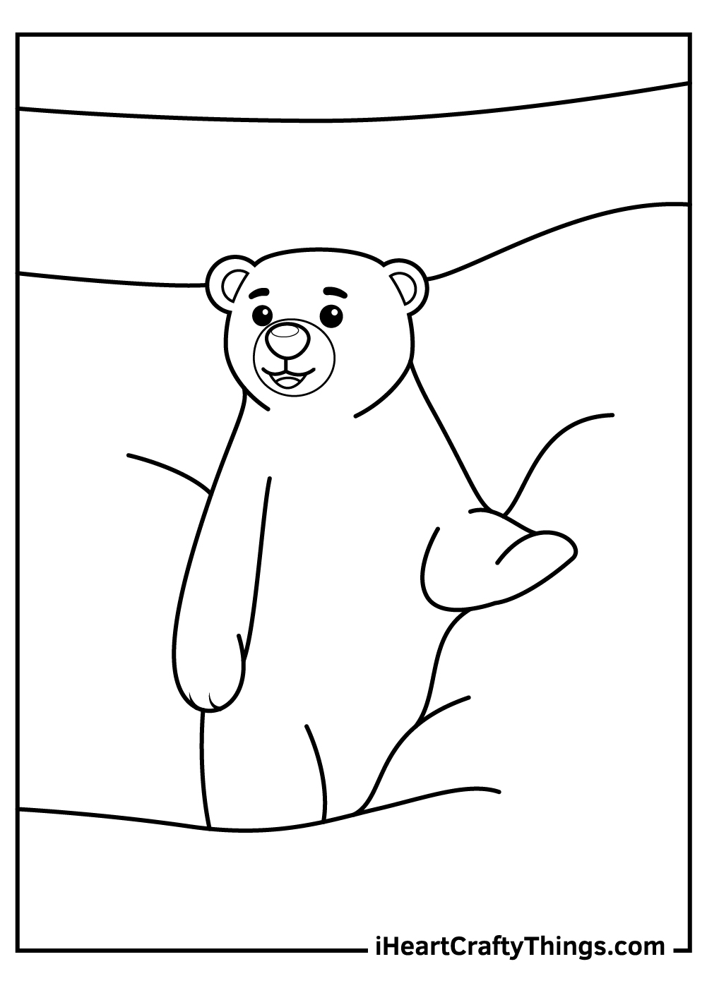 easy polar bears coloring pages for kids