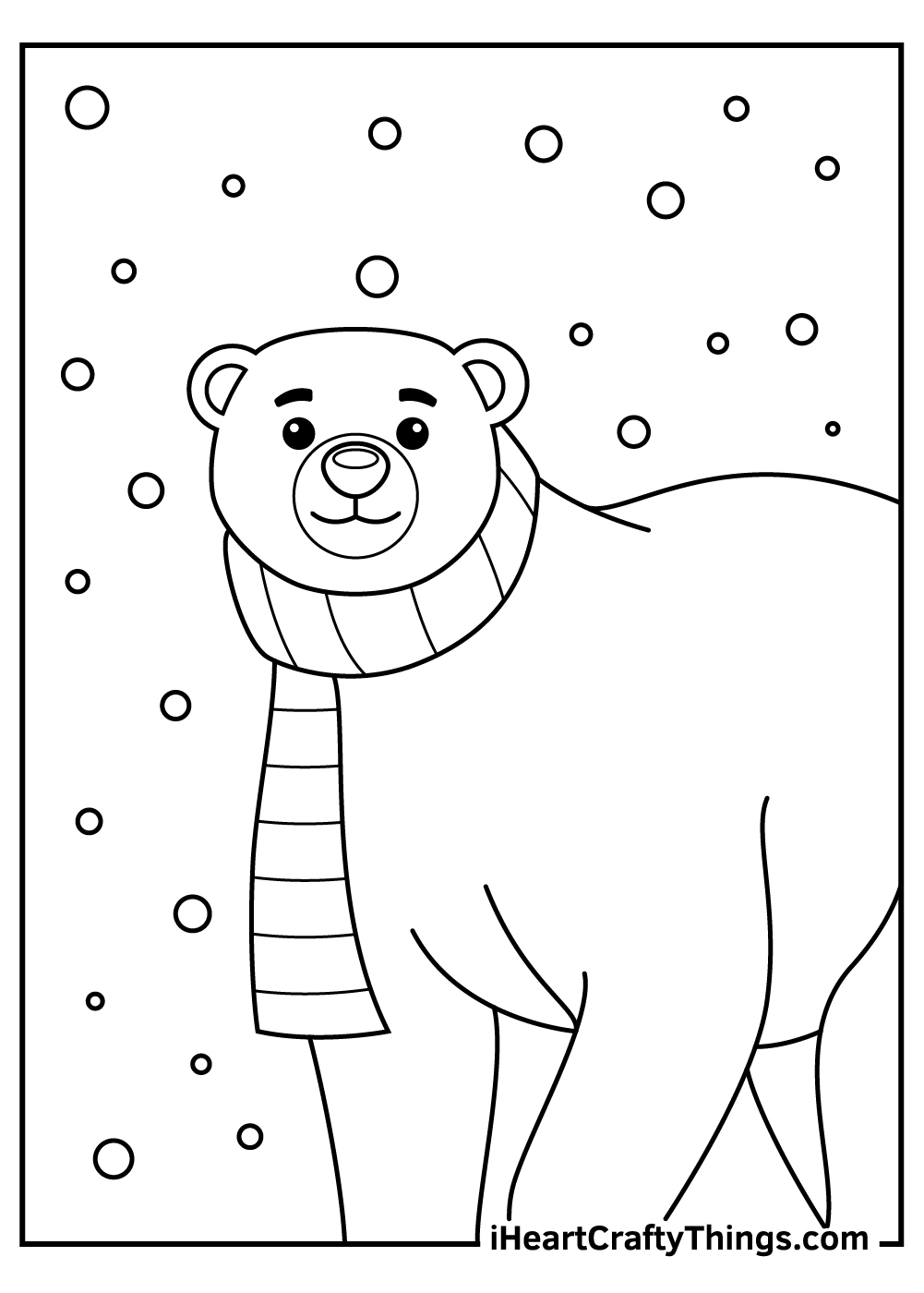papa polar bear coloring pages for kids