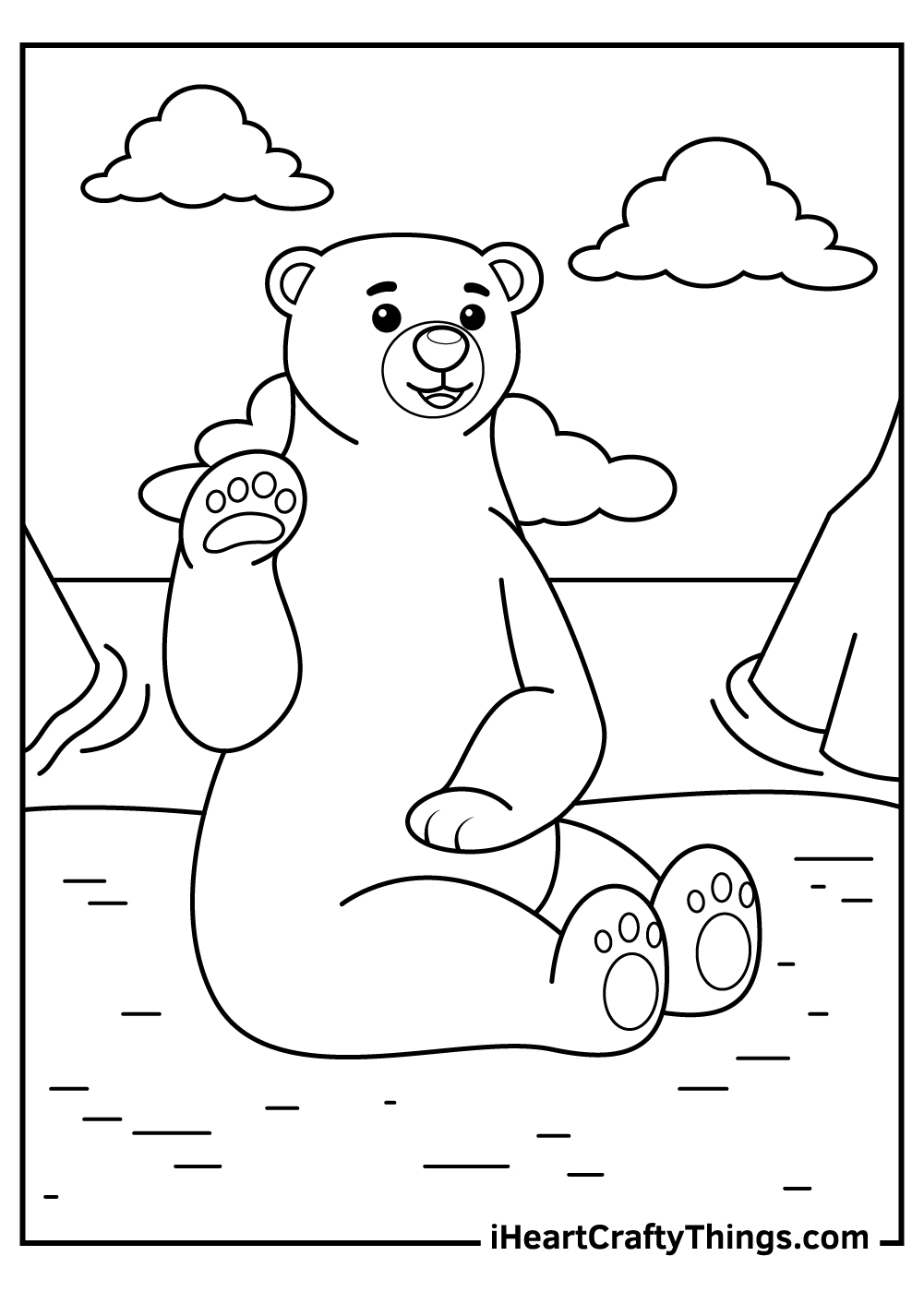 mother bear coloring pages for kids