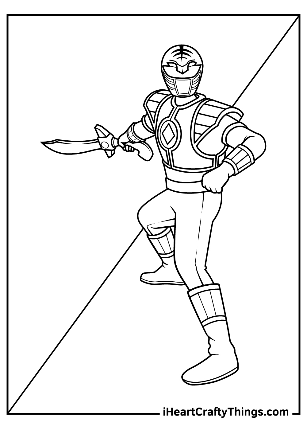 white power ranger coloring pages free printable