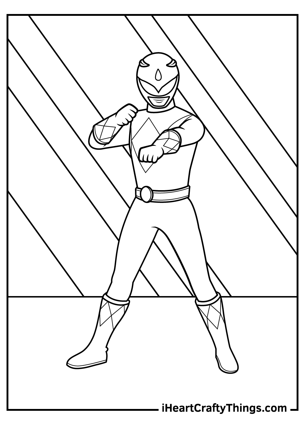 original power rangers coloring pages printable