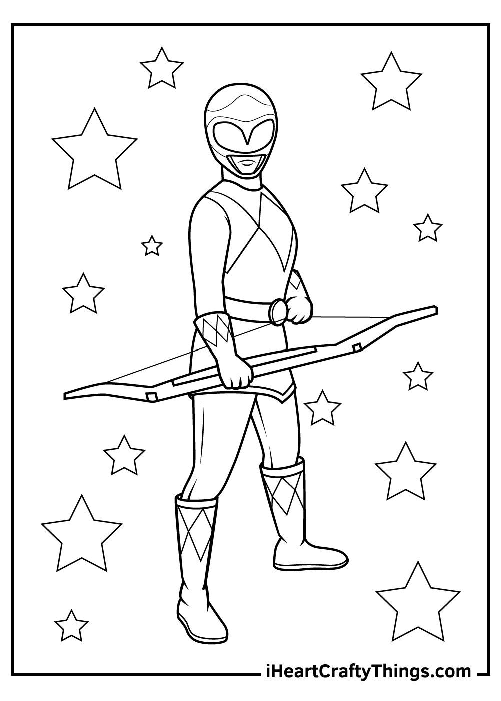 female yellow original power ranger coloring pages