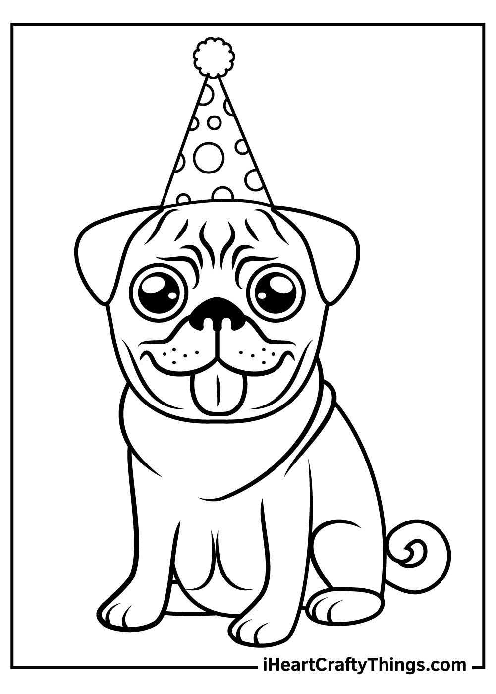 realistic pug coloring pages free printable