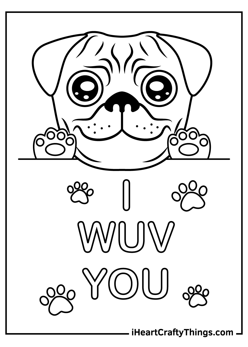 baby pug coloring pages free download