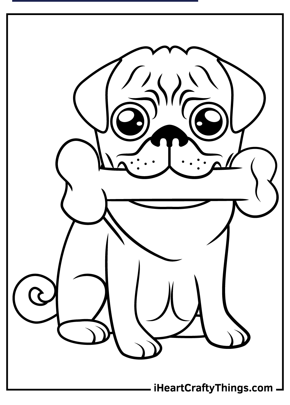 realistic puppy pug coloring pages free printable