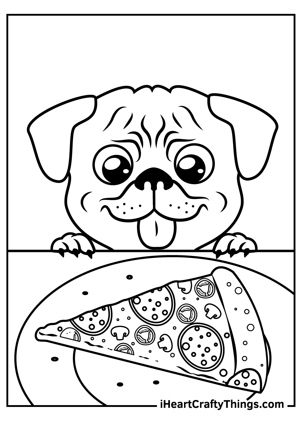 cute baby pug coloring pages free printable