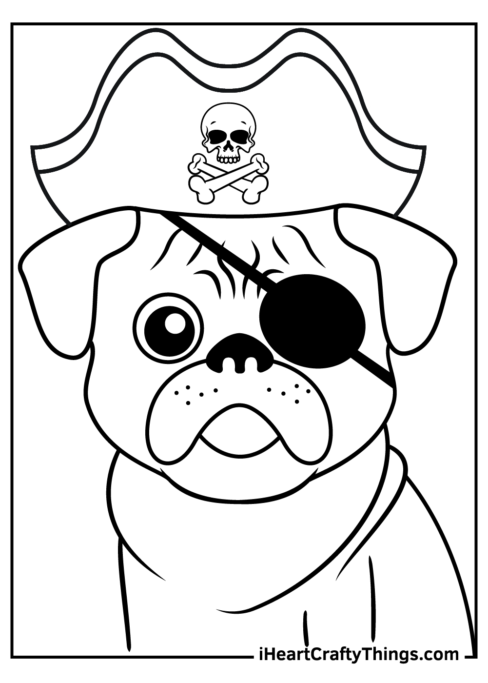 pirate pug coloring pages free pdf download
