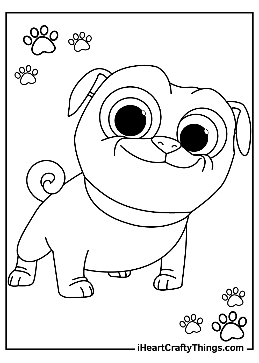 puppy dog pals coloring pages free printable