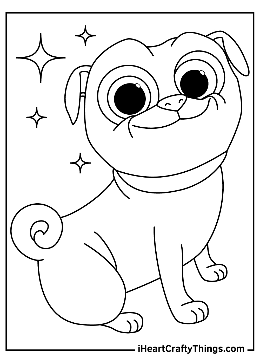 disney's puppy dog pals coloring pages