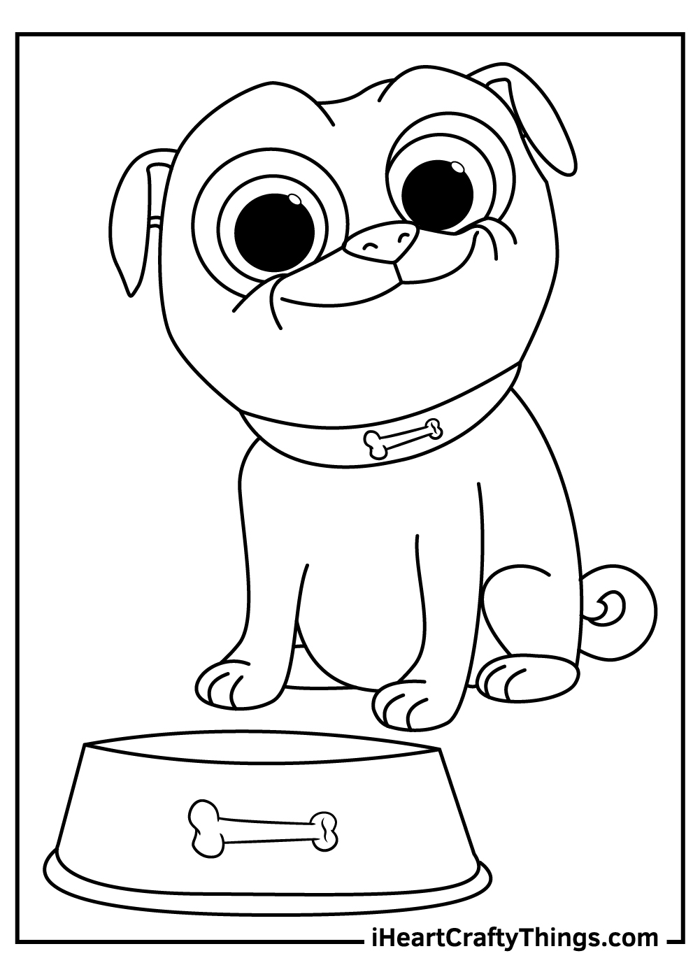 free printable puppy dog pals coloring pages