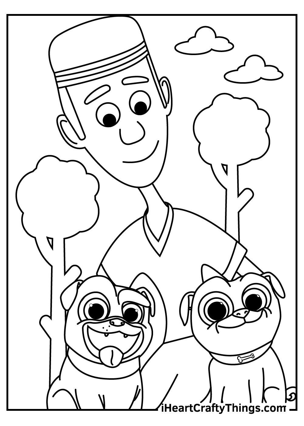 captain bingo puppy dog pals coloring pages
