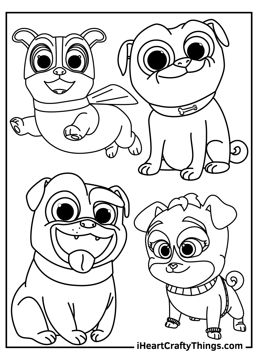 crew puppy dog pals coloring pages free download