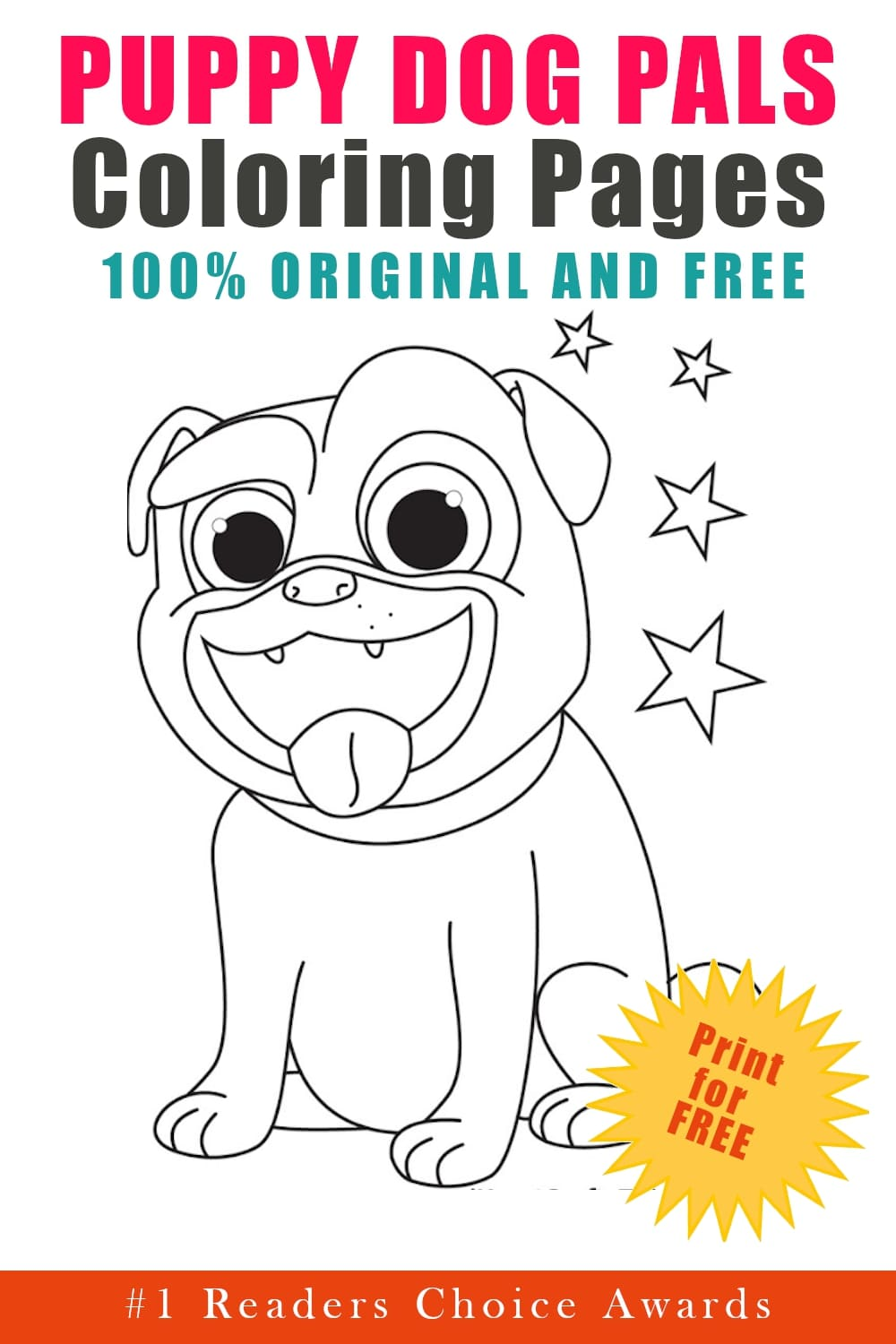 original and free puppy dog pals coloring pages download