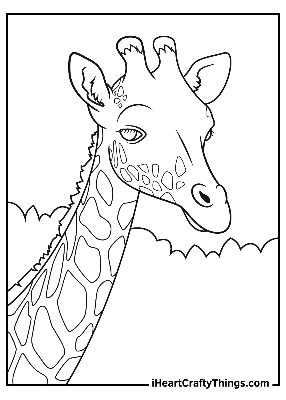 free printable realistic giraffe coloring pages