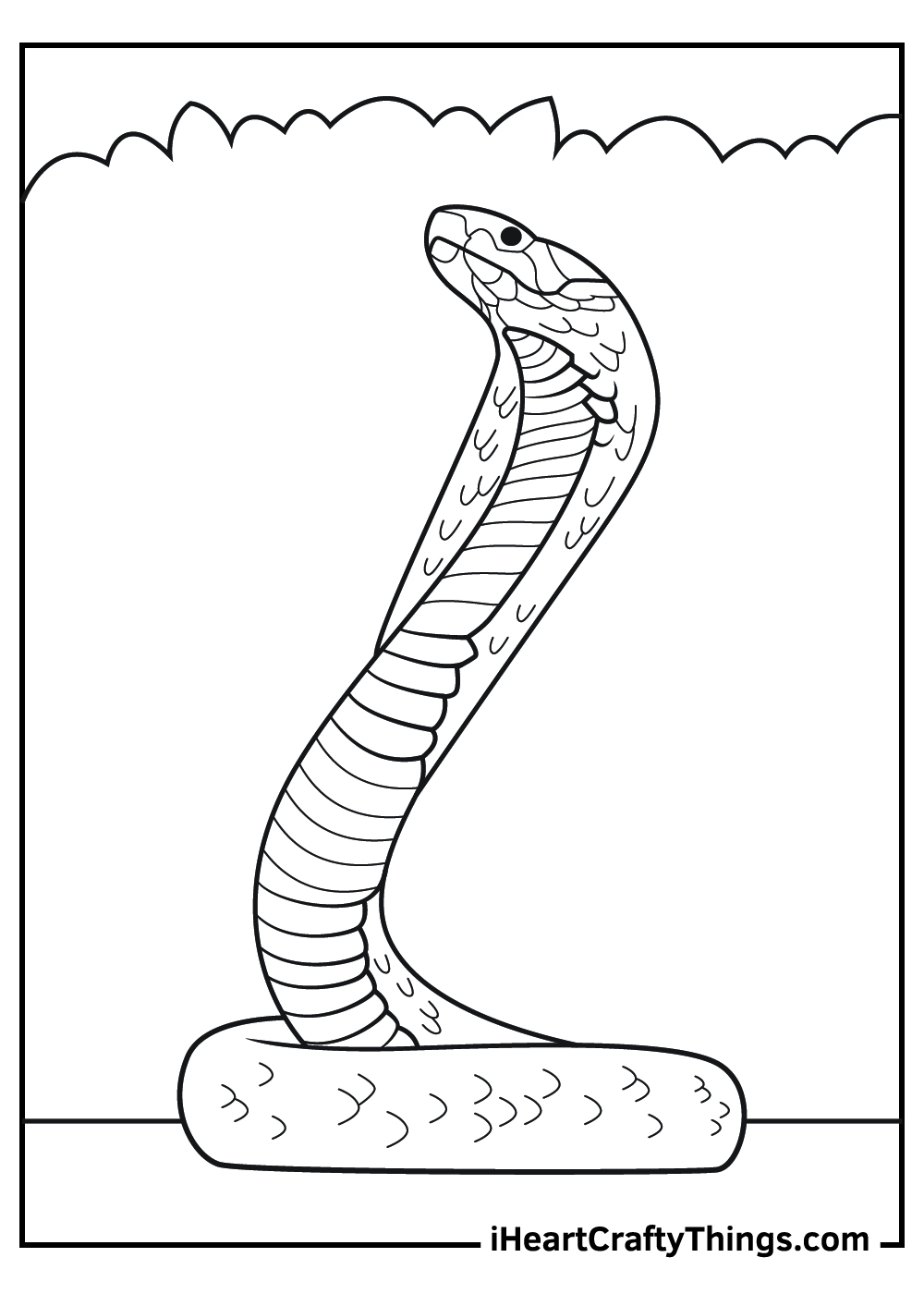 free printable realistic snake coloring pages