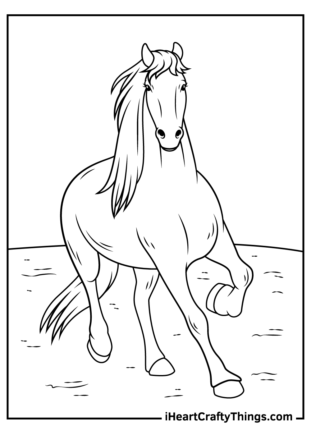 realistic horse coloring pages to print out
