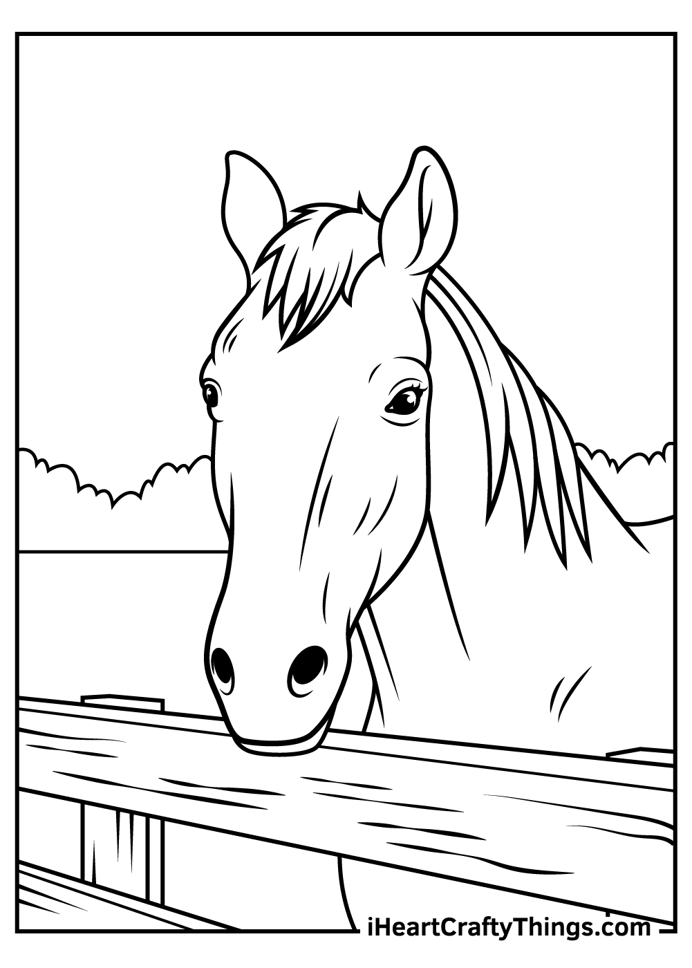 large free printable realistic horse coloring pages