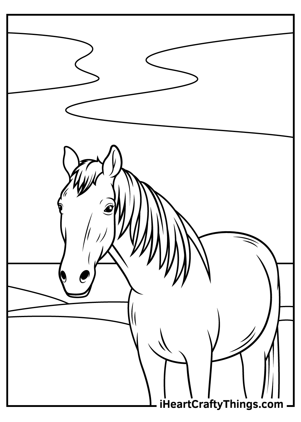 realistic horse coloring pages free printing