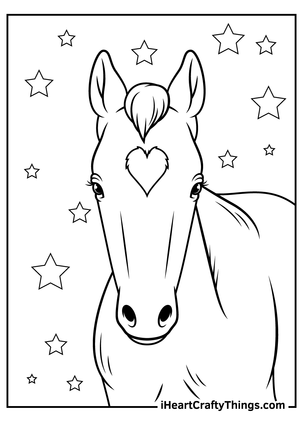 free realistic horse coloring pages