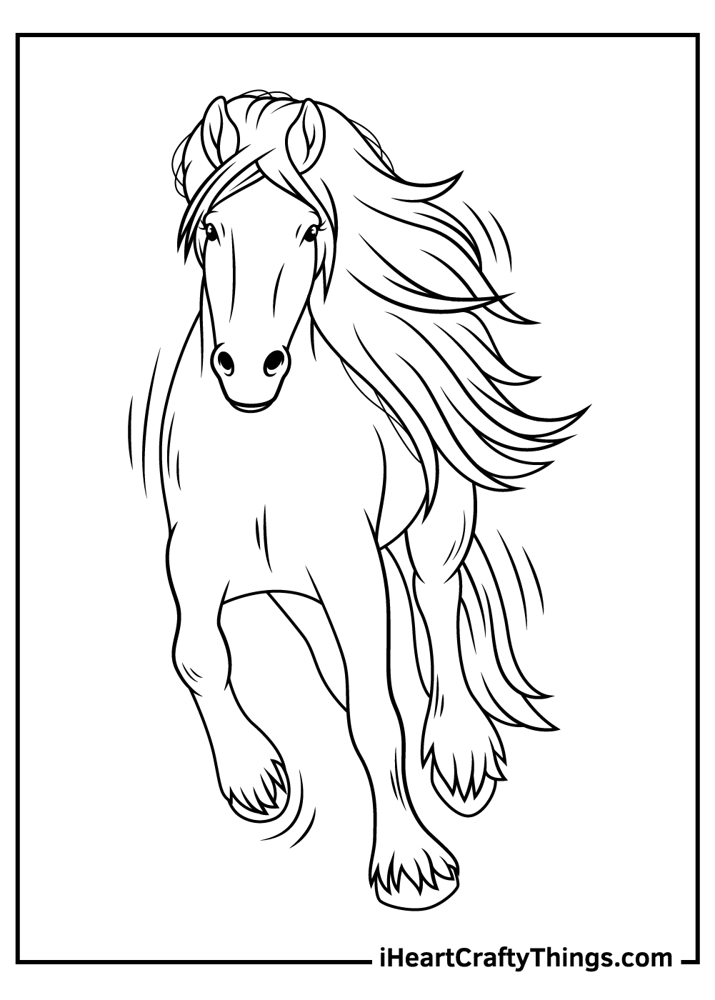 free realistic horse coloring pages printable