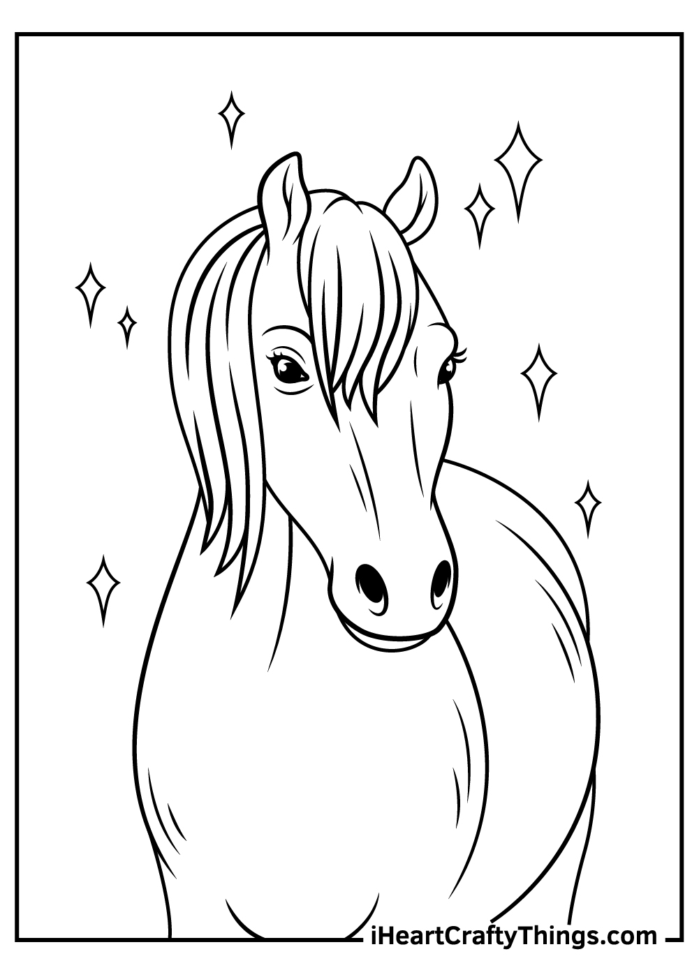realistic horse coloring pages printable for kids