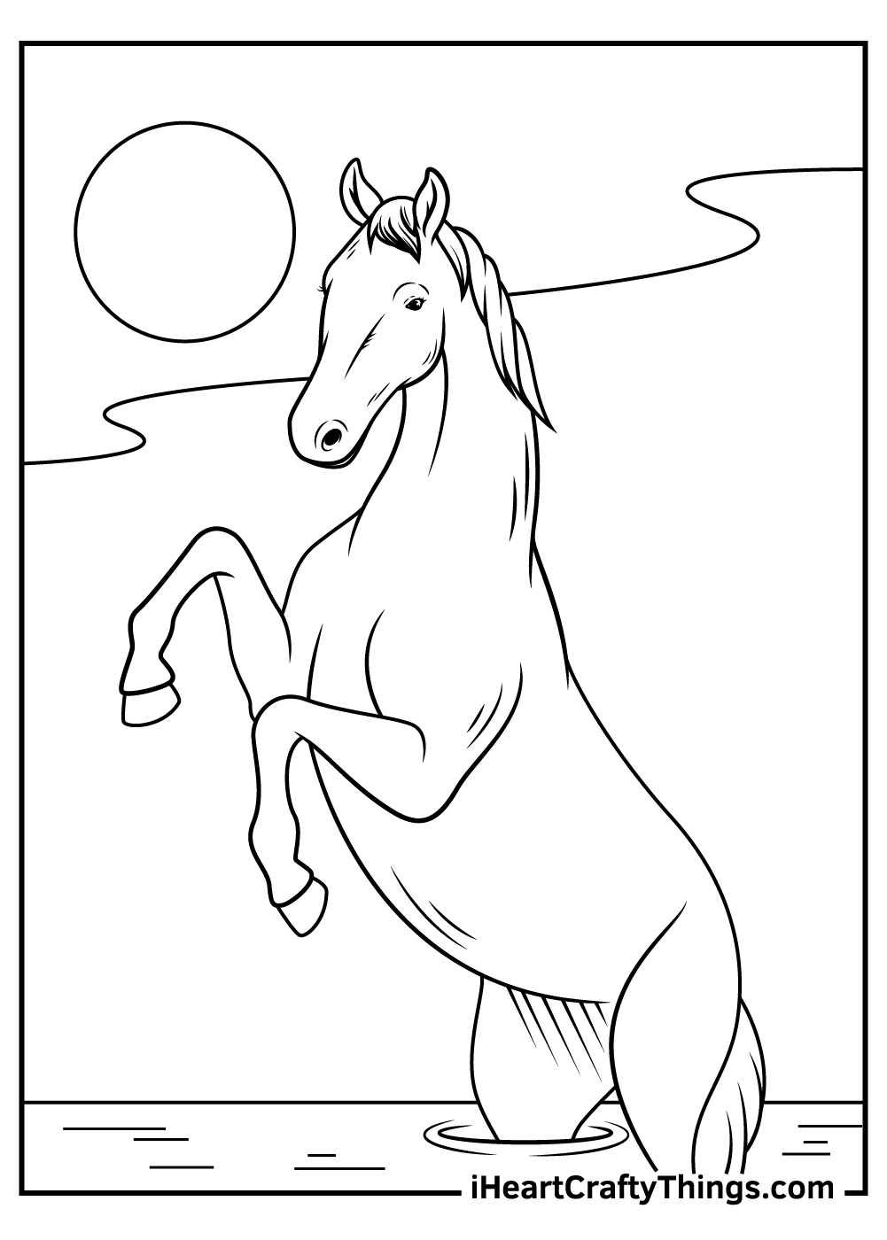 printable realistic horse coloring pages