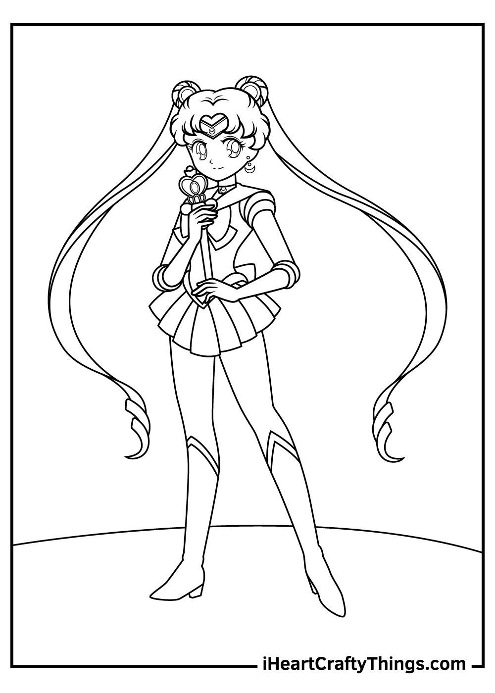 sailor moon coloring pages for adults printable