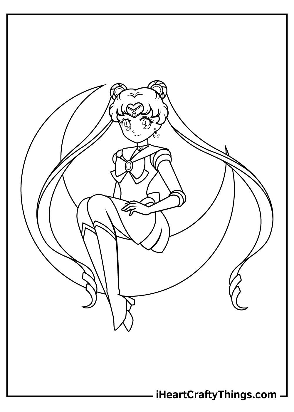 eternal sailor moon coloring pages free pdf