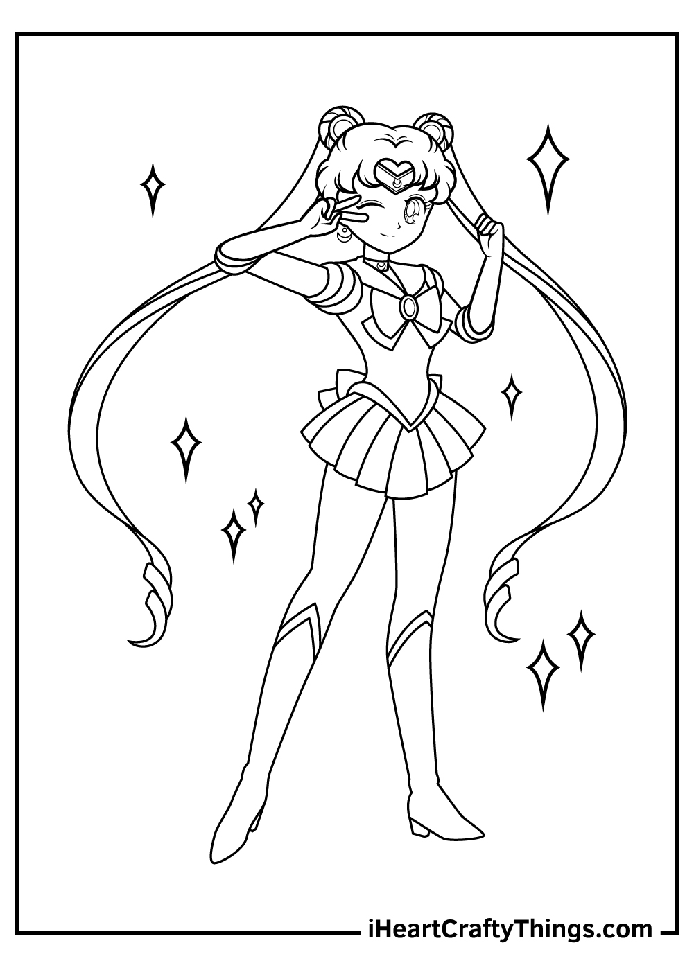 new sailor moon coloring pages printable