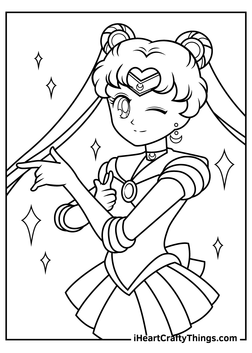 anime sailor moon free coloring pages