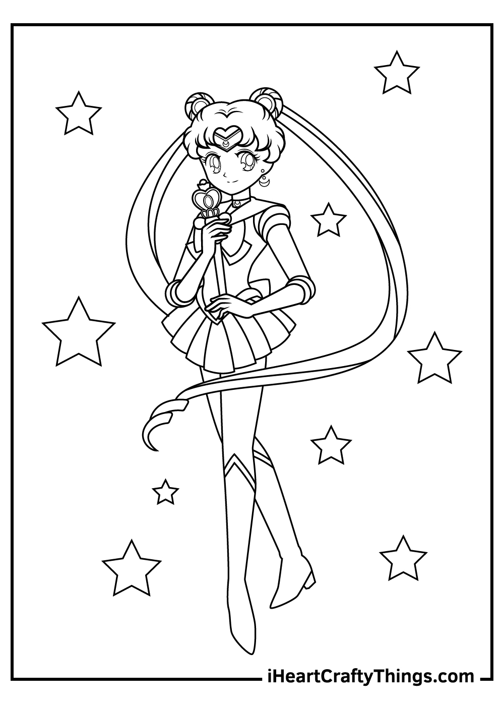 anime character sailor moon coloring pages pdf