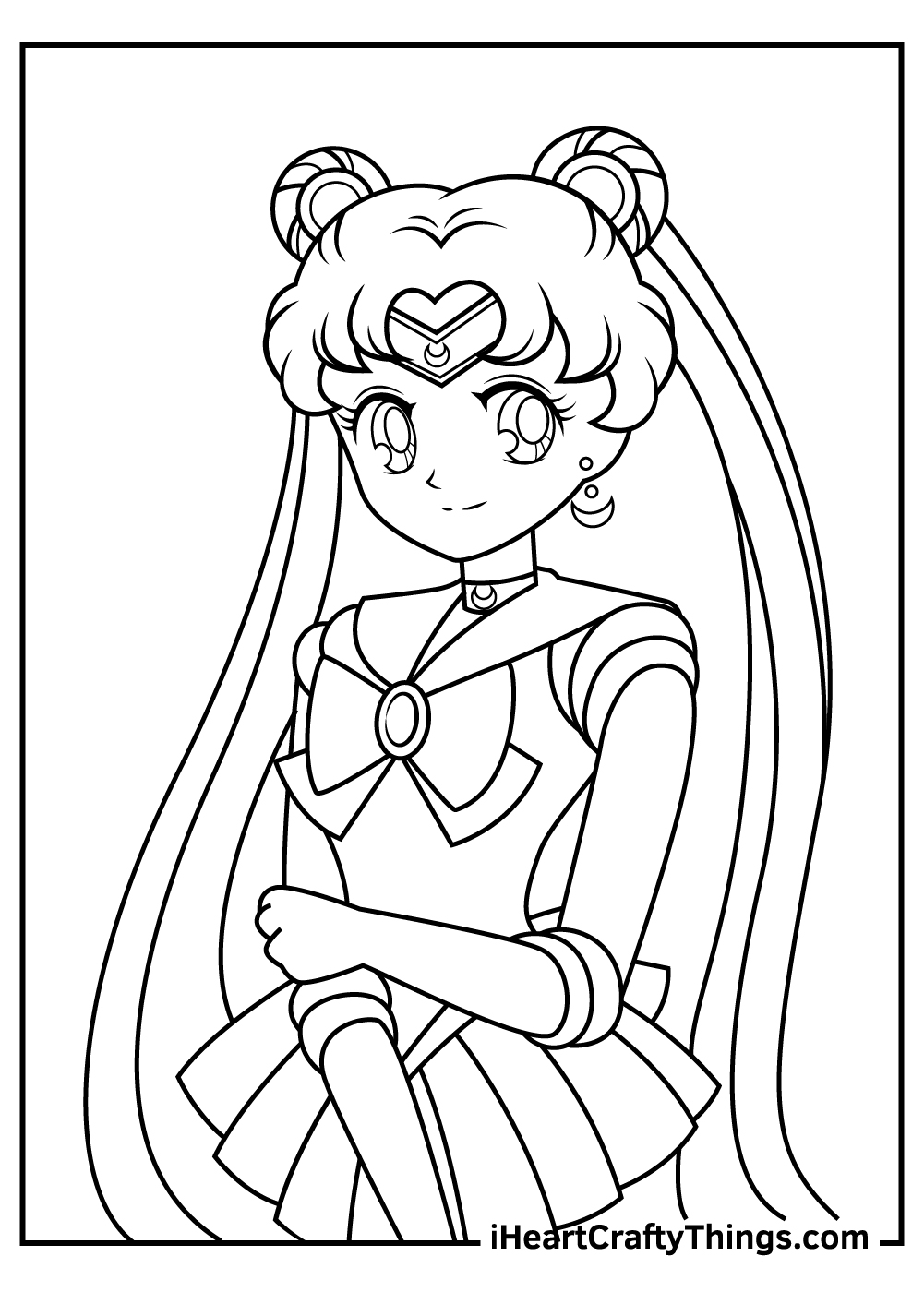 sailor moon coloring pages free sheets
