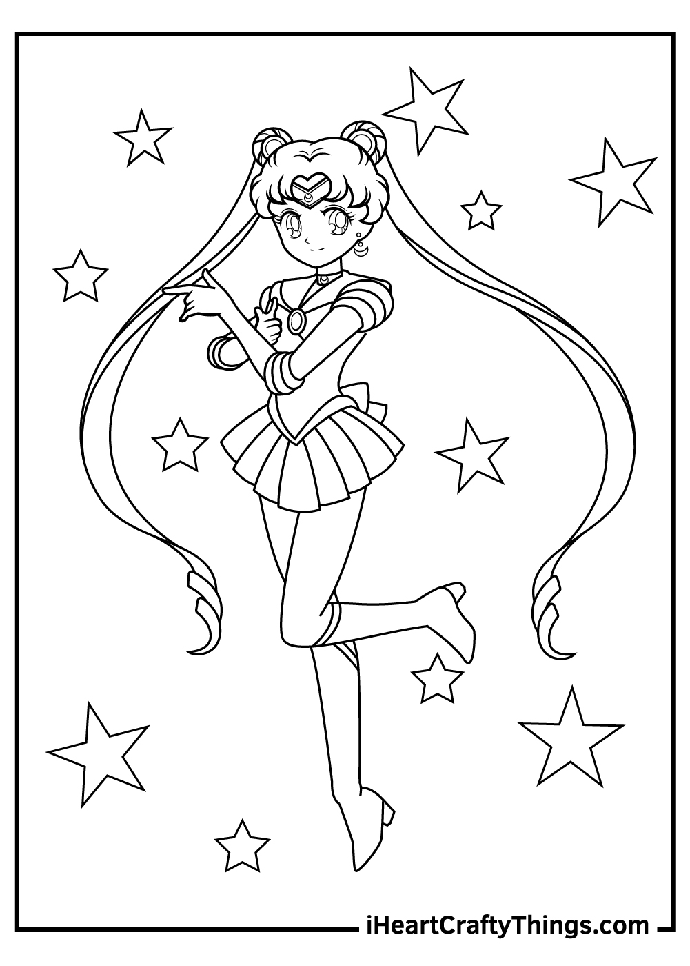 abstract sailor moon coloring pages printable