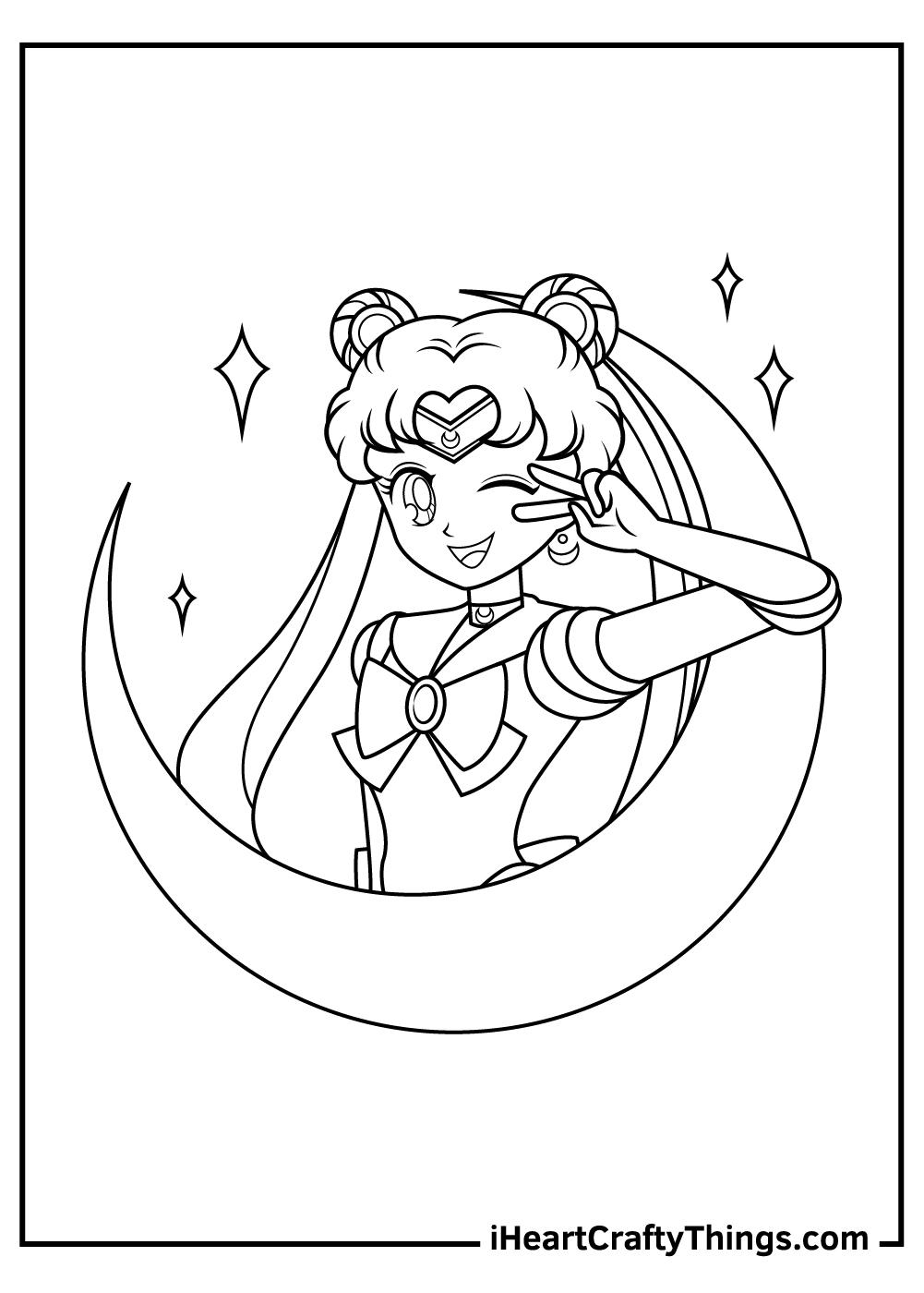 sailor moon coloring pages super sailor venus