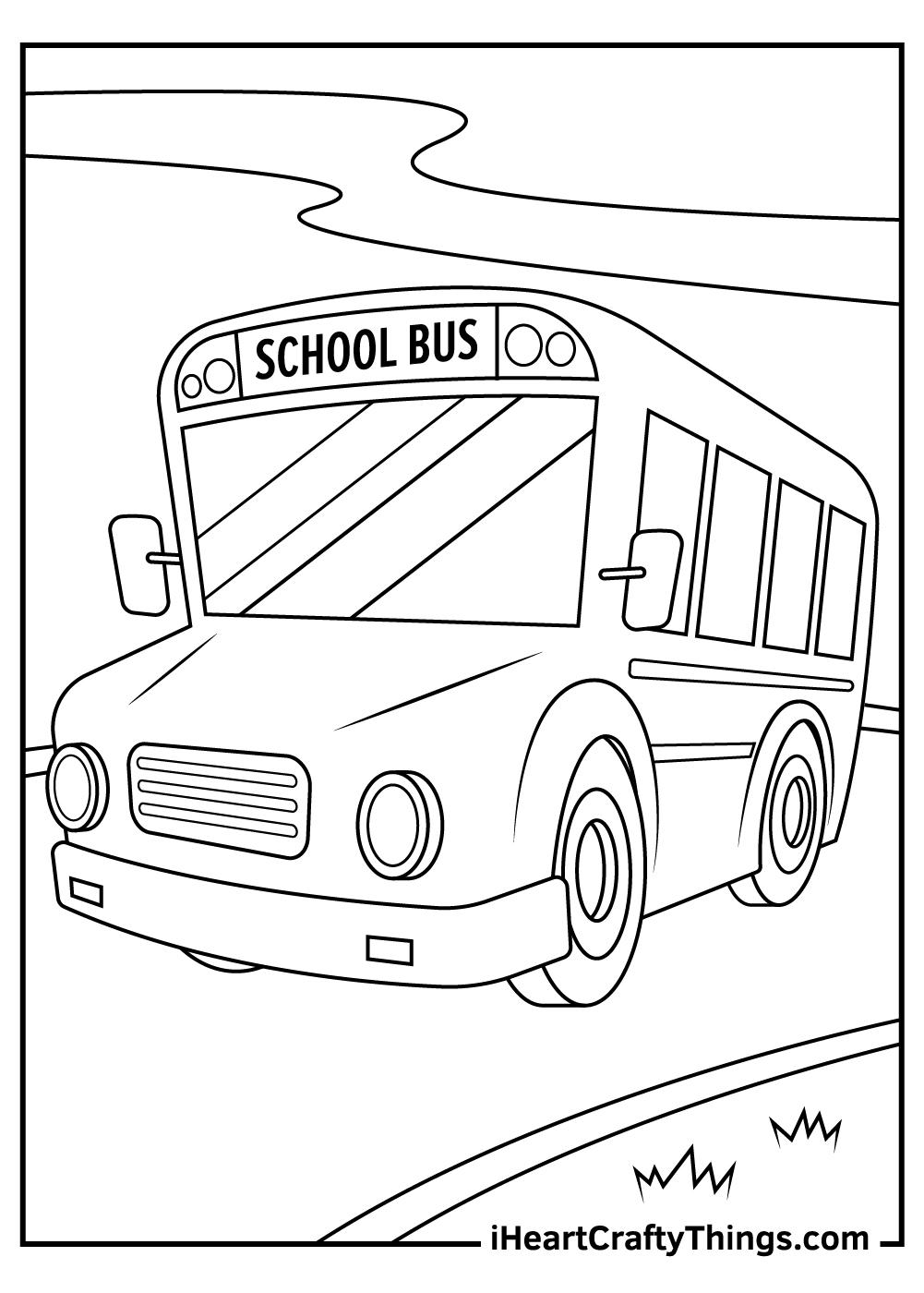 preschool school bus coloring pages