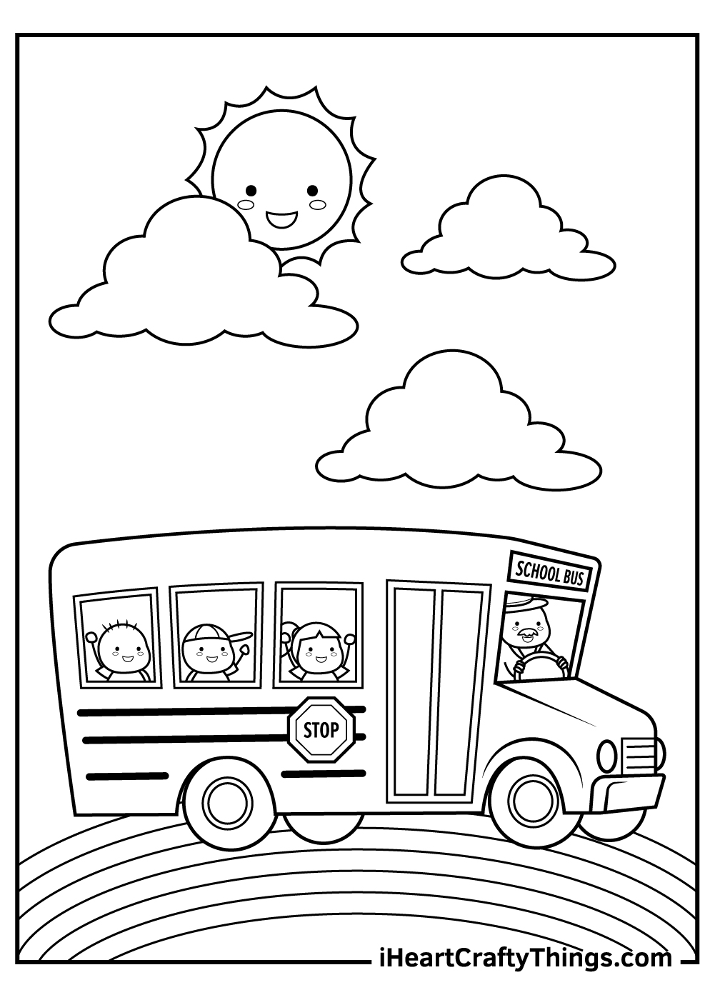 back to school bus coloring pages