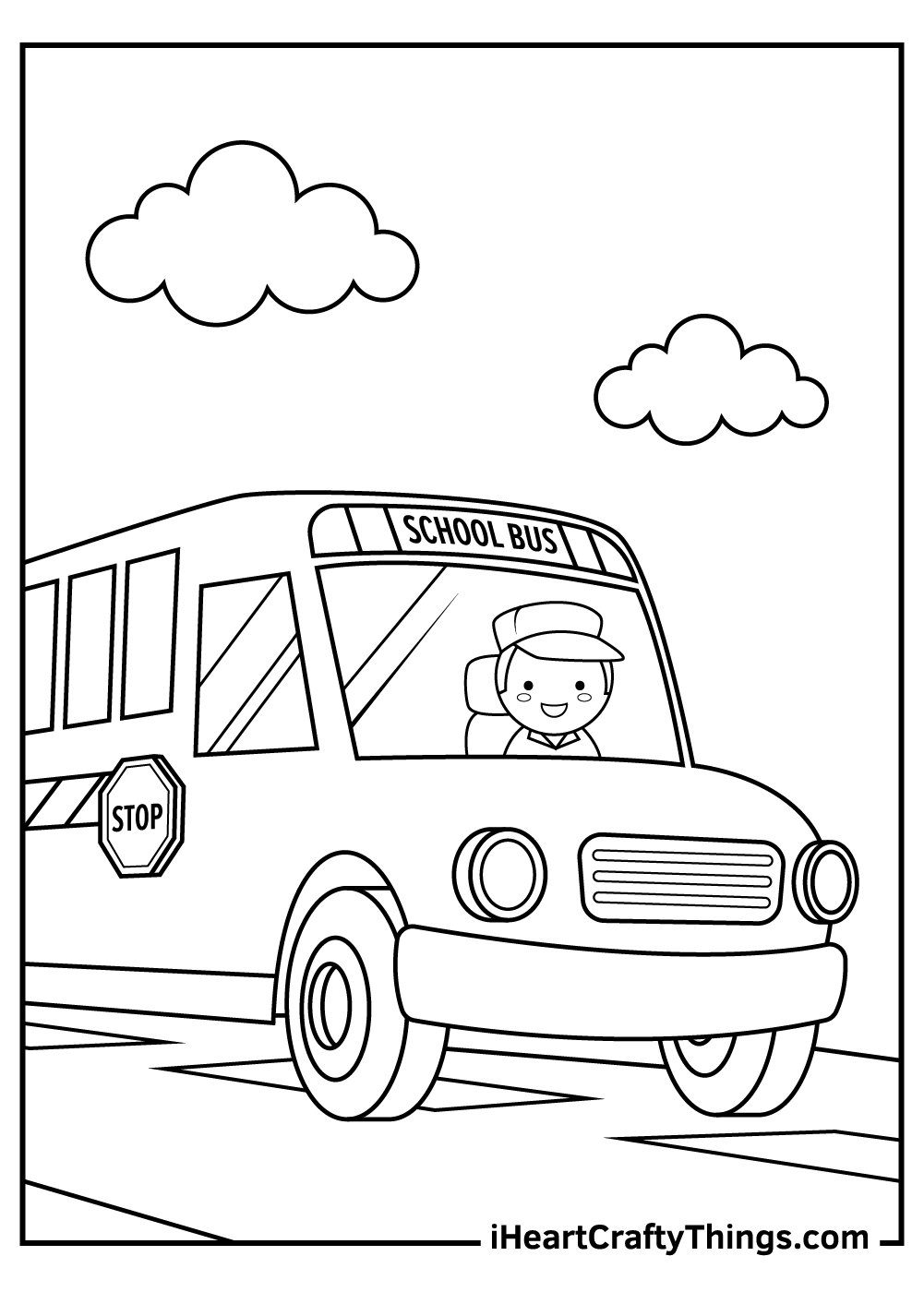 going on school bus coloring pages pdf
