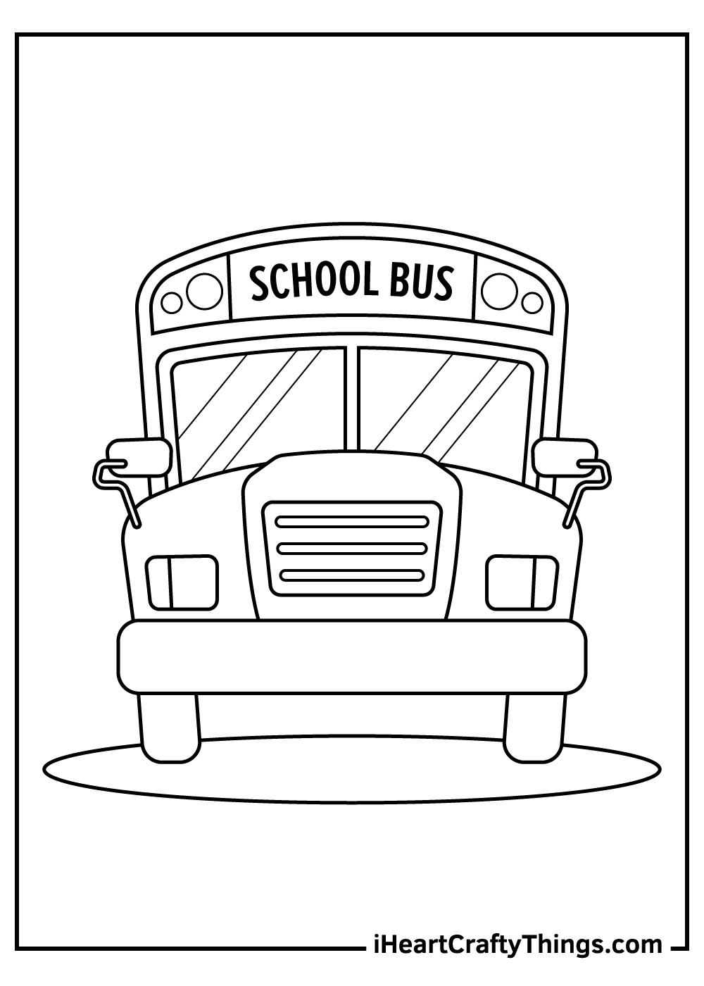 school bus coloring pages free printables