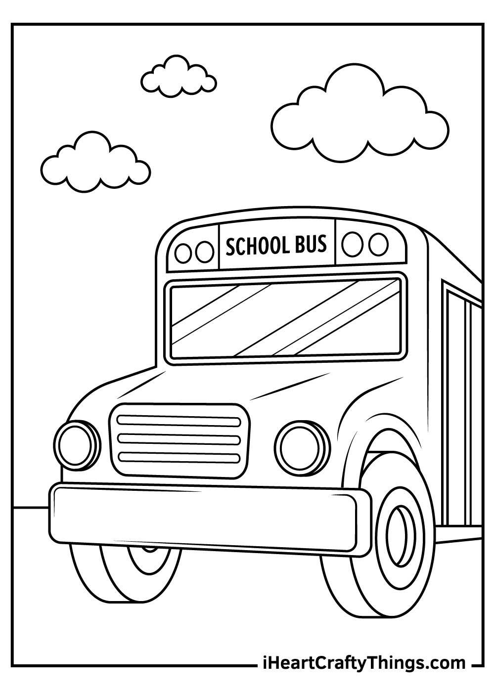 picture of school bus coloring pages
