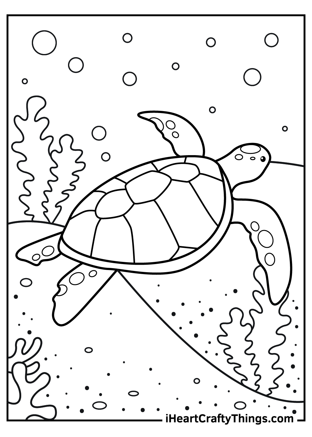realistic sea turtle coloring pages
