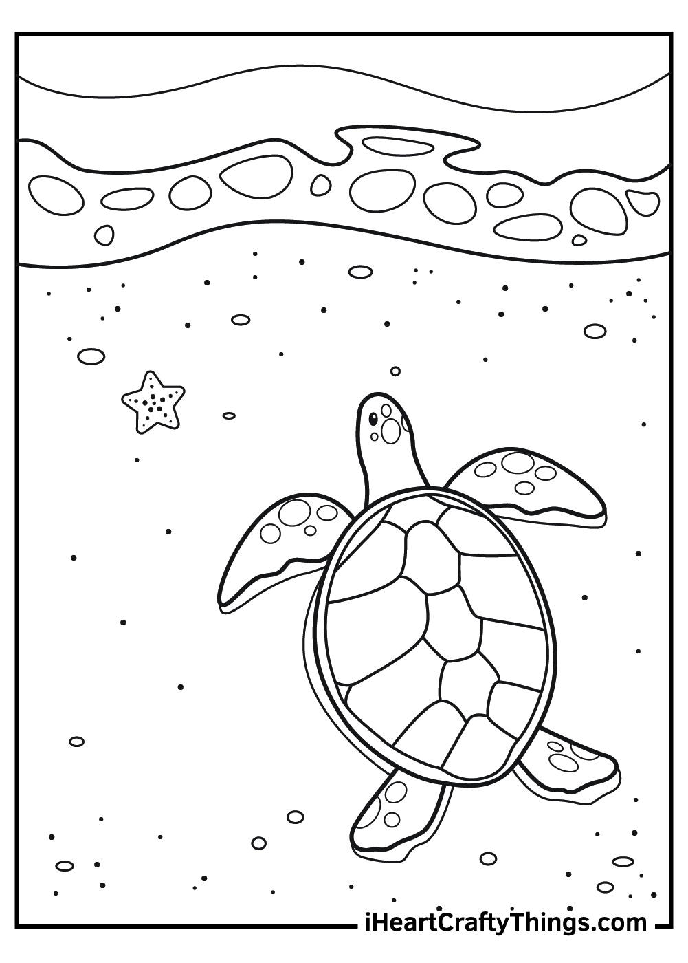 real sea turtle coloring pages free printable