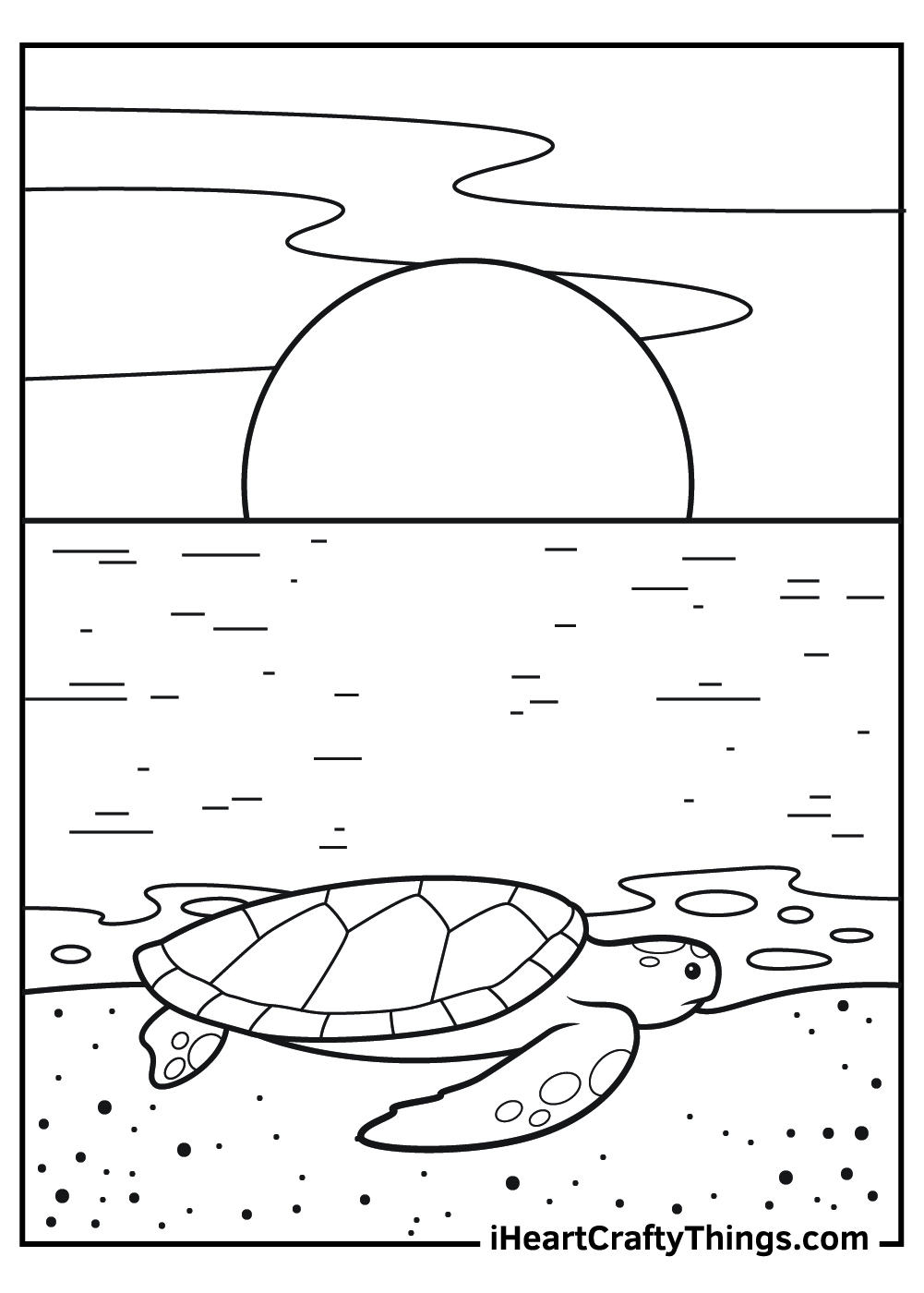 realistic sea turtle coloring pages for kids free pdf