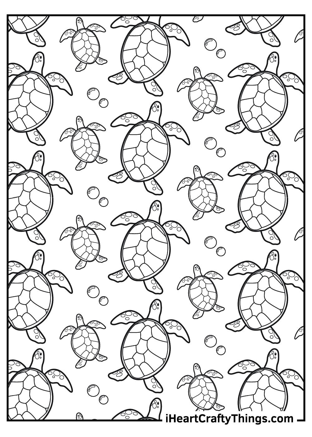 cartoon sea turtles coloring pages free print