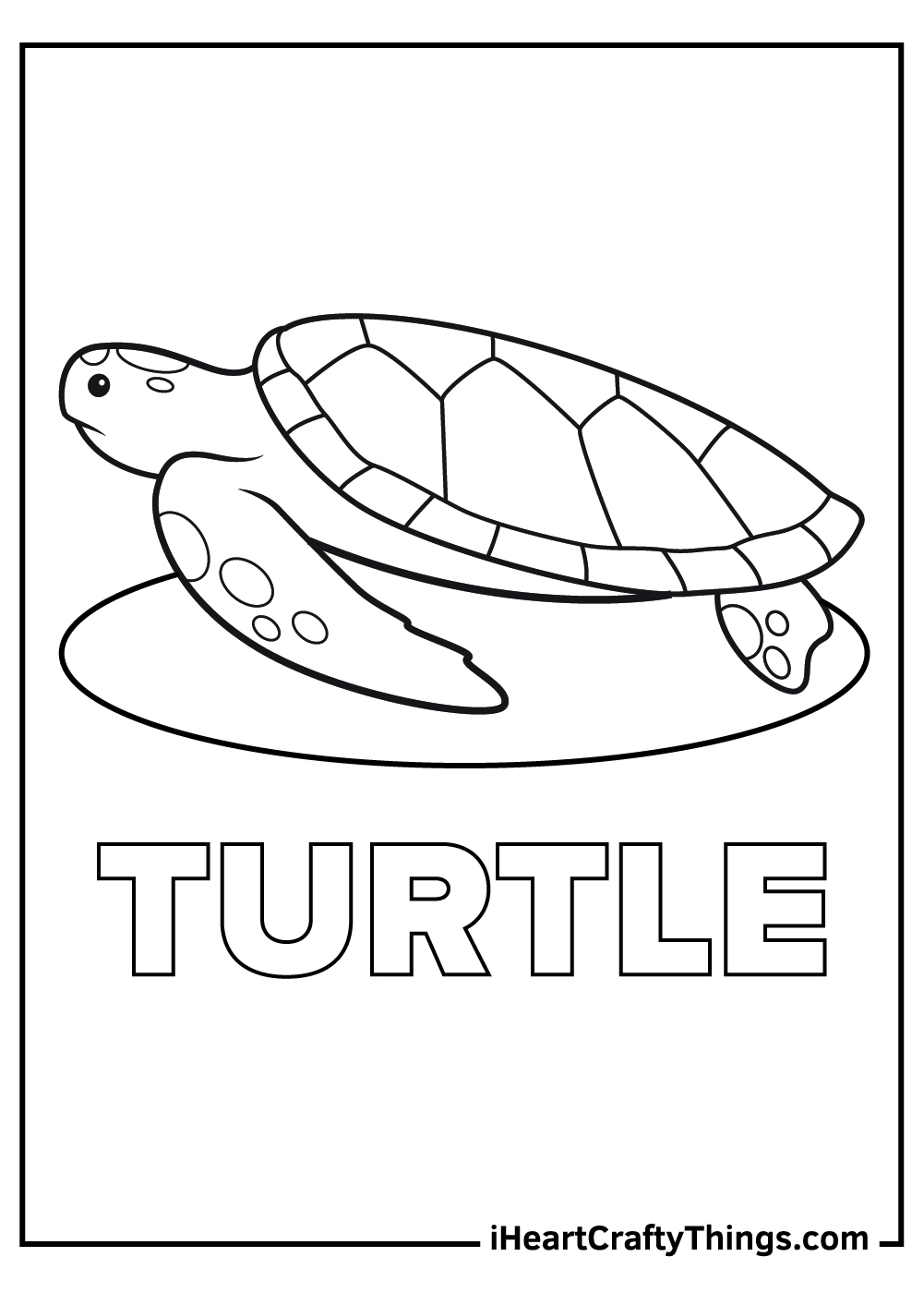 t is for turtle coloring pages free printable