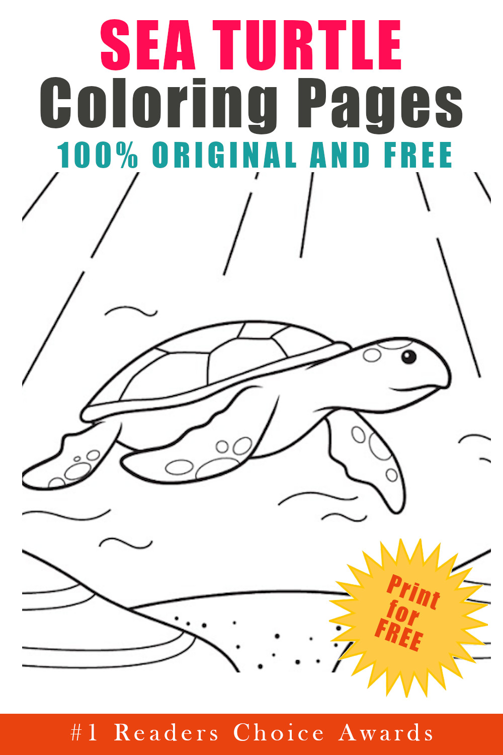 original and free sea turtle coloring pages