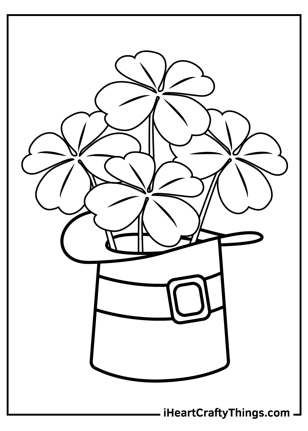 free shamrock coloring pages pdf