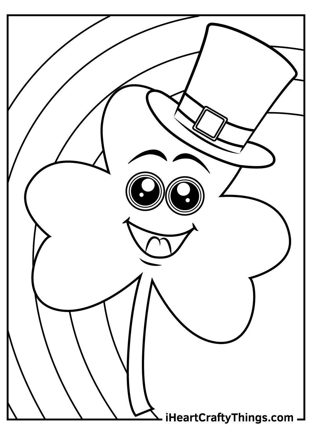 big shamrock coloring pages pdf free sheets