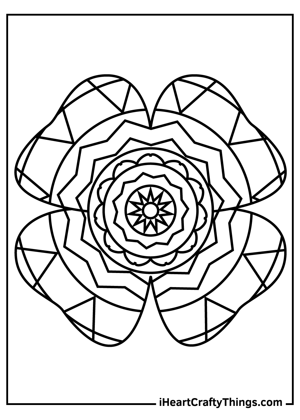 leprechaun shamrock coloring pages black and white
