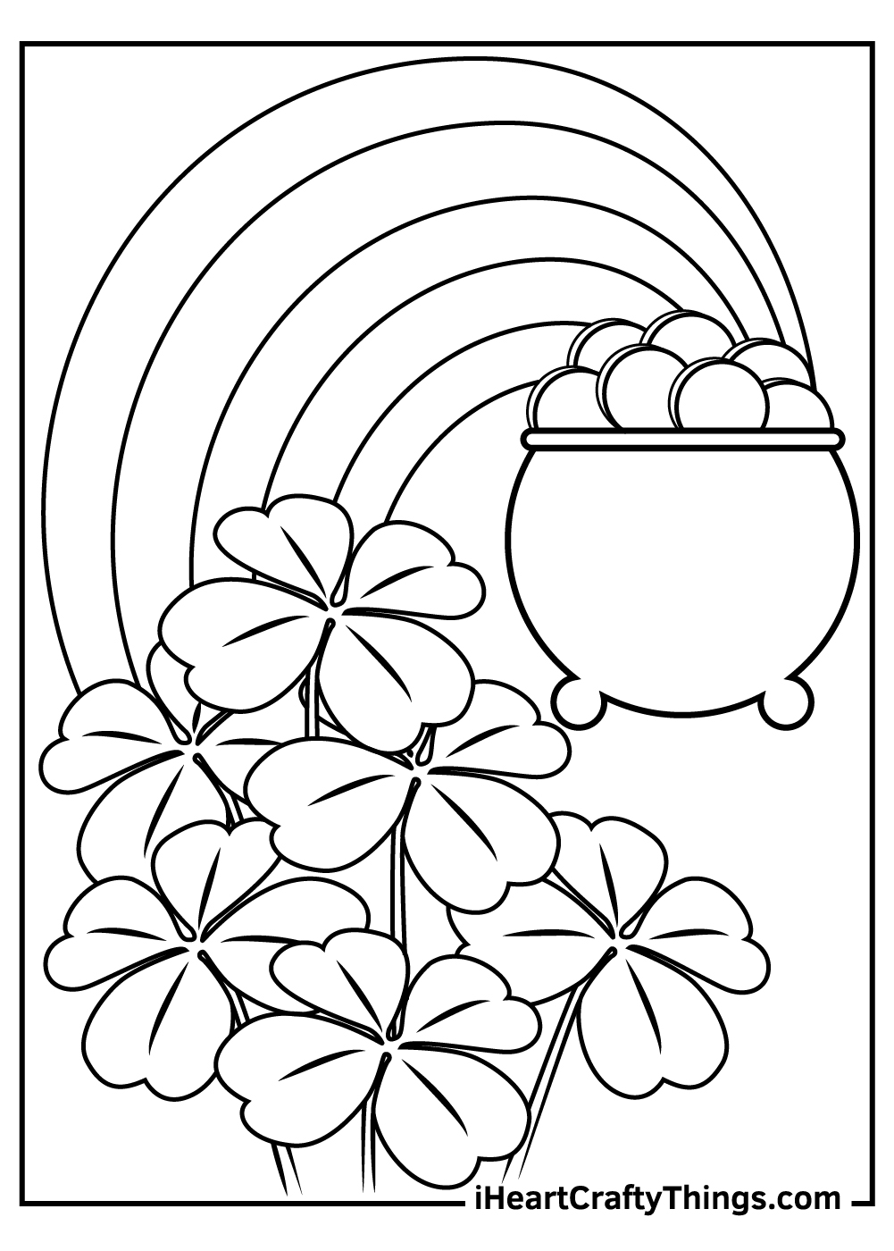 st patrick's day shamrock coloring pages