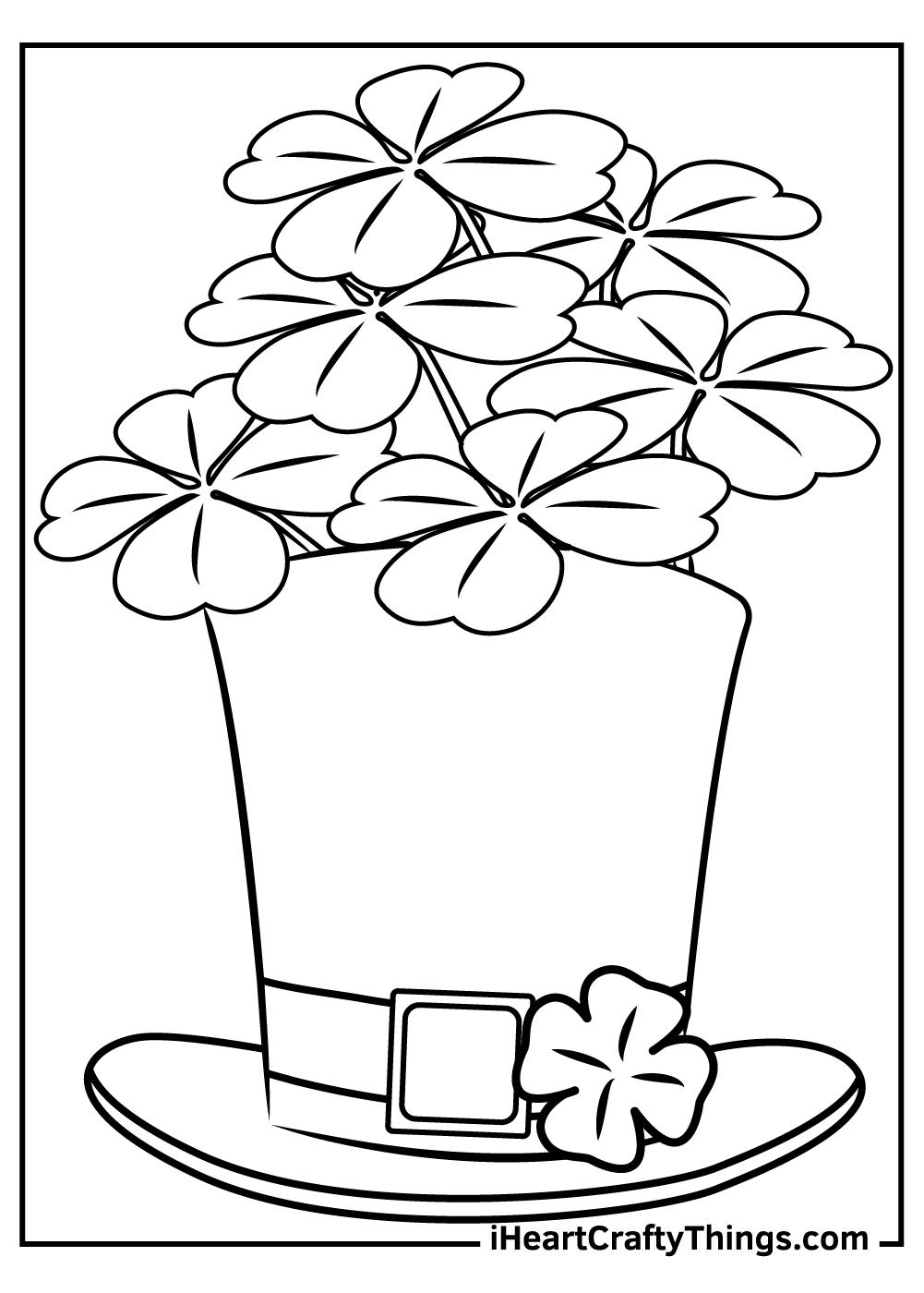 leprechaun shamrock coloring pages free